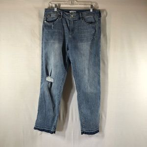 Dear John Distressed Release Hem Jeans 28
